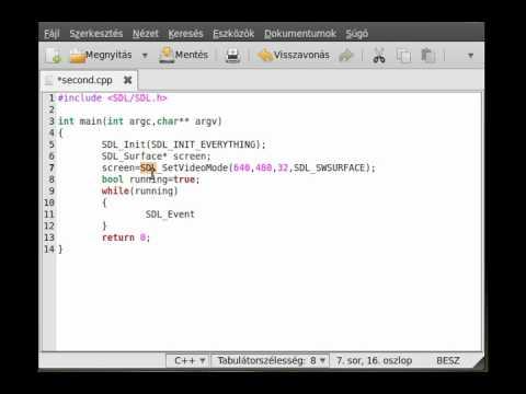 SDL tutorial 1 - Hello world