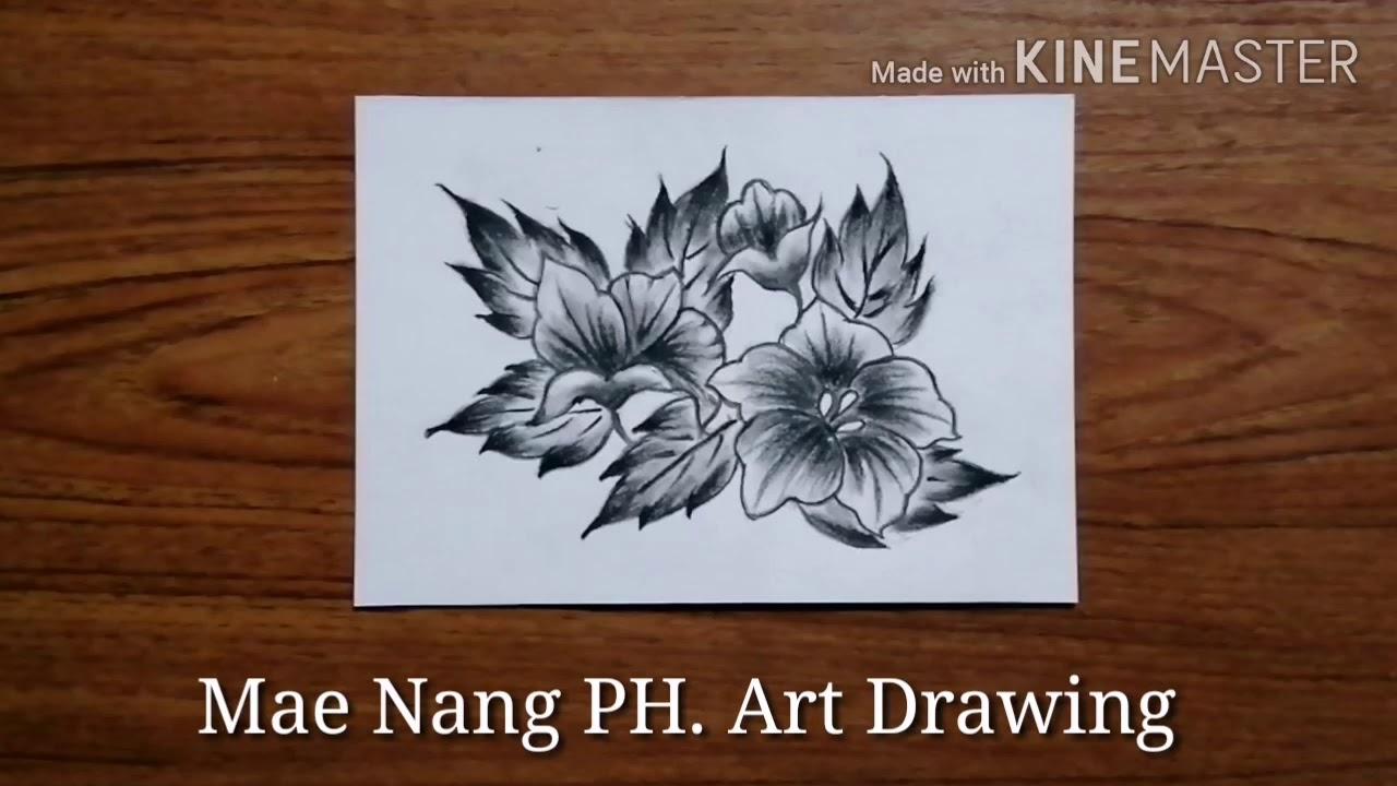 สอนวาดภาพ / วาดภาพแรเงาดอกไม้ / แม่นางสอนวาดภาพ
