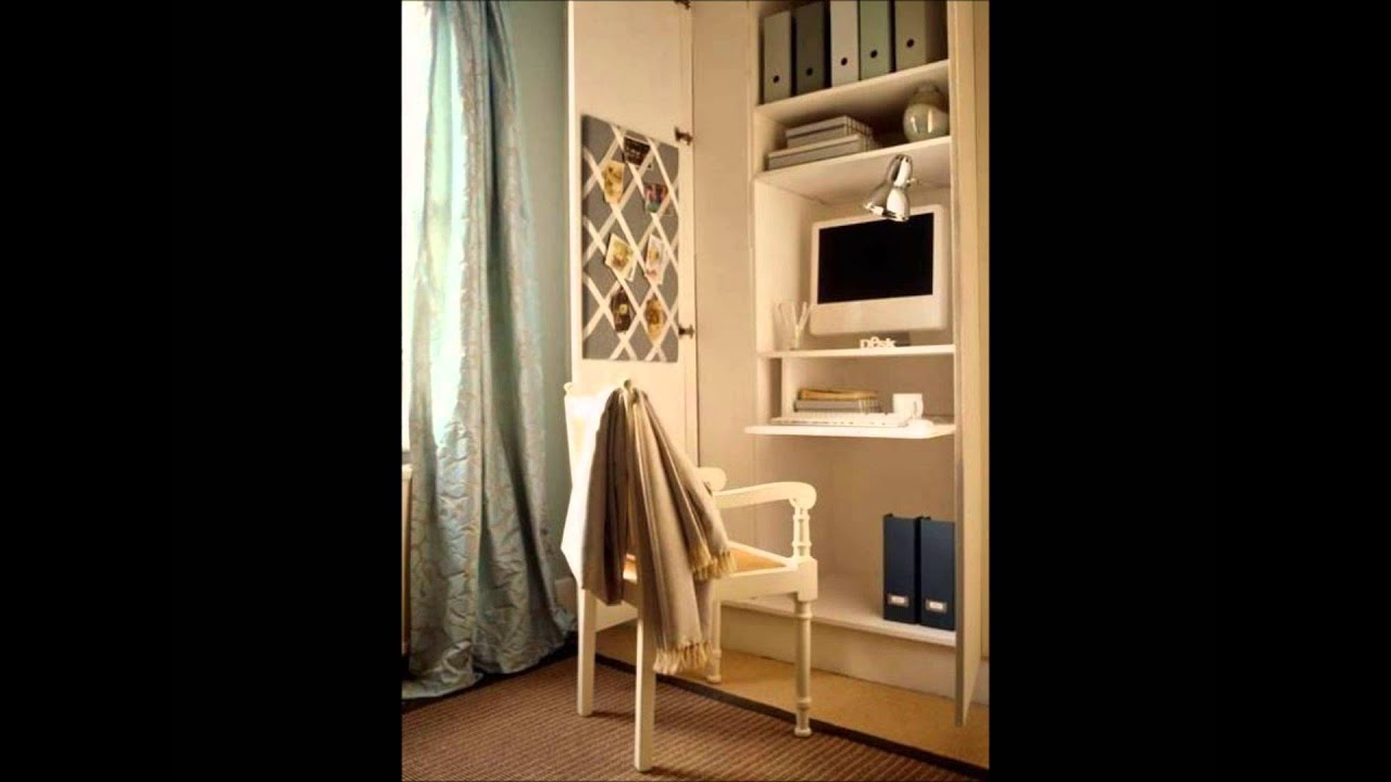 Decorar oficinas peque as en casa ideas 2014 youtube for Como amueblar una oficina pequena