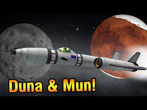 SSTO to Duna AND Mun without refuelling (KSP Reddit Challenge)