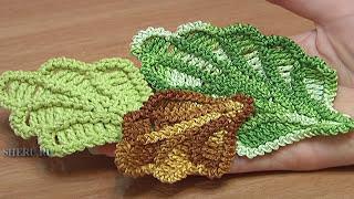 Crochet Oak Leaf Урок 16 Великолепный объемный дубовый листик связанный крючком
