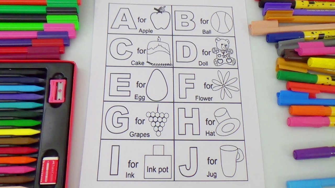 alphabet phonics coloring pages for kids abc coloring pages for