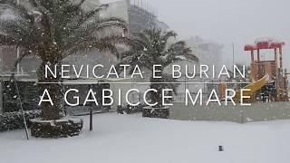 Neve a suon di Burian a Gabicce Mare