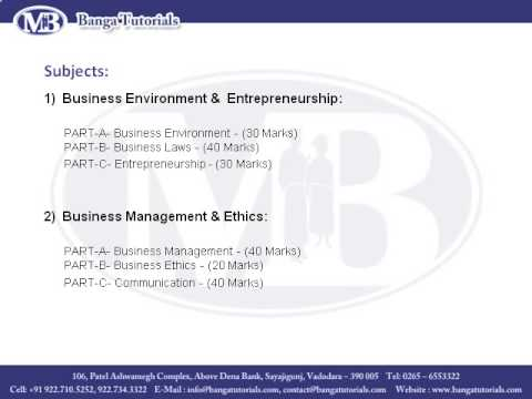 Company Secretary Course & Admission Details - Banga Tutorial