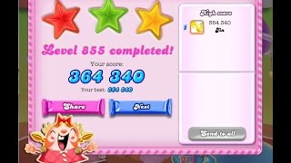 Candy Crush Saga Level 855     ★★★   NO BOOSTER