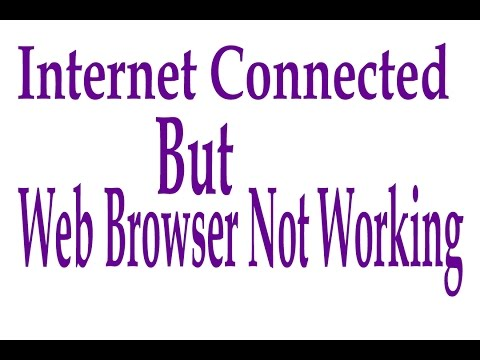 Internet Working But Web browser is not working | Win 7-8-8.1-10 | Fix under 1 minute