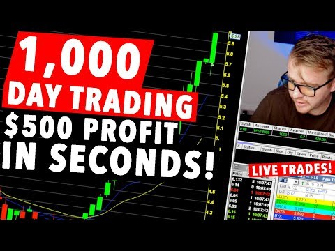 1,000 Dollar Day Trading LIVE! $500 PROFIT IN SECONDS!