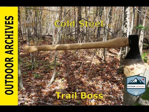 Gransfors Bruk small forest axe vs Cold steel trail boss by Wisc0n