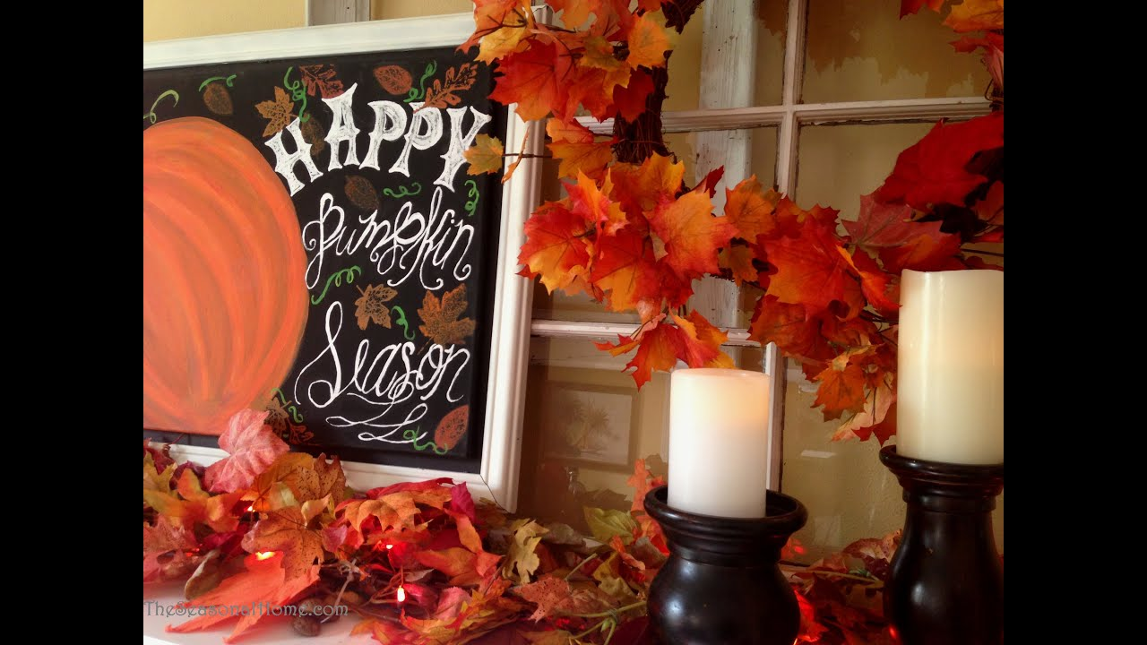 step by step how to decorate a fireplace for fall youtube