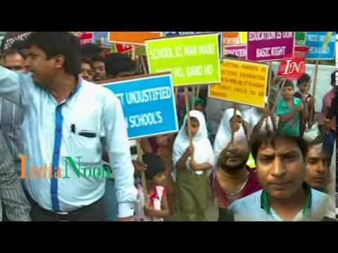 School Tuition Fees Reduction demanded by Human rights Education at Hyderabad India