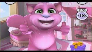 Мой Говорящий Том #139   Том розовый   Детский игровой мультик для детей! My Talking Tom