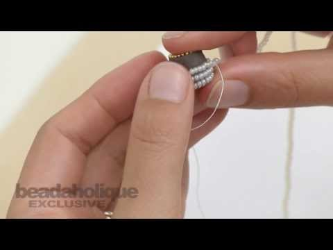 How to Embellish a Channel Bead Core with a Strand of Beads by Becky Nunn
