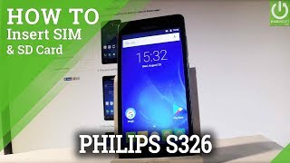How to Set Up SIM and SD on PHILIPS S326 - Insert SIM & SD Card