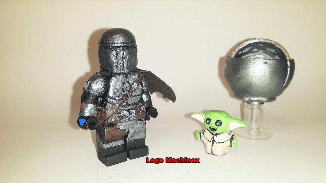 Lego Star Wars The Mandalorian series custom Din Djarin Baby Yoda  minifigure