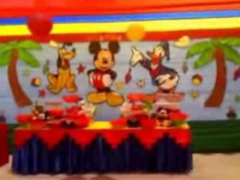Decoracion mickey mouse show infantil travesuras kids - Decoracion para fiestas infantiles mickey mouse ...