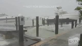 Hurricane Matthew Hits Nassau Harbour, Bahamas! 10-6-16