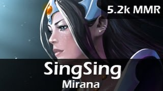 389: SingSing as Mirana Mid ft. Fwosh, bangfish, Mantis, danan - 5.2k MMR Ranked Gameplay - 20150504
