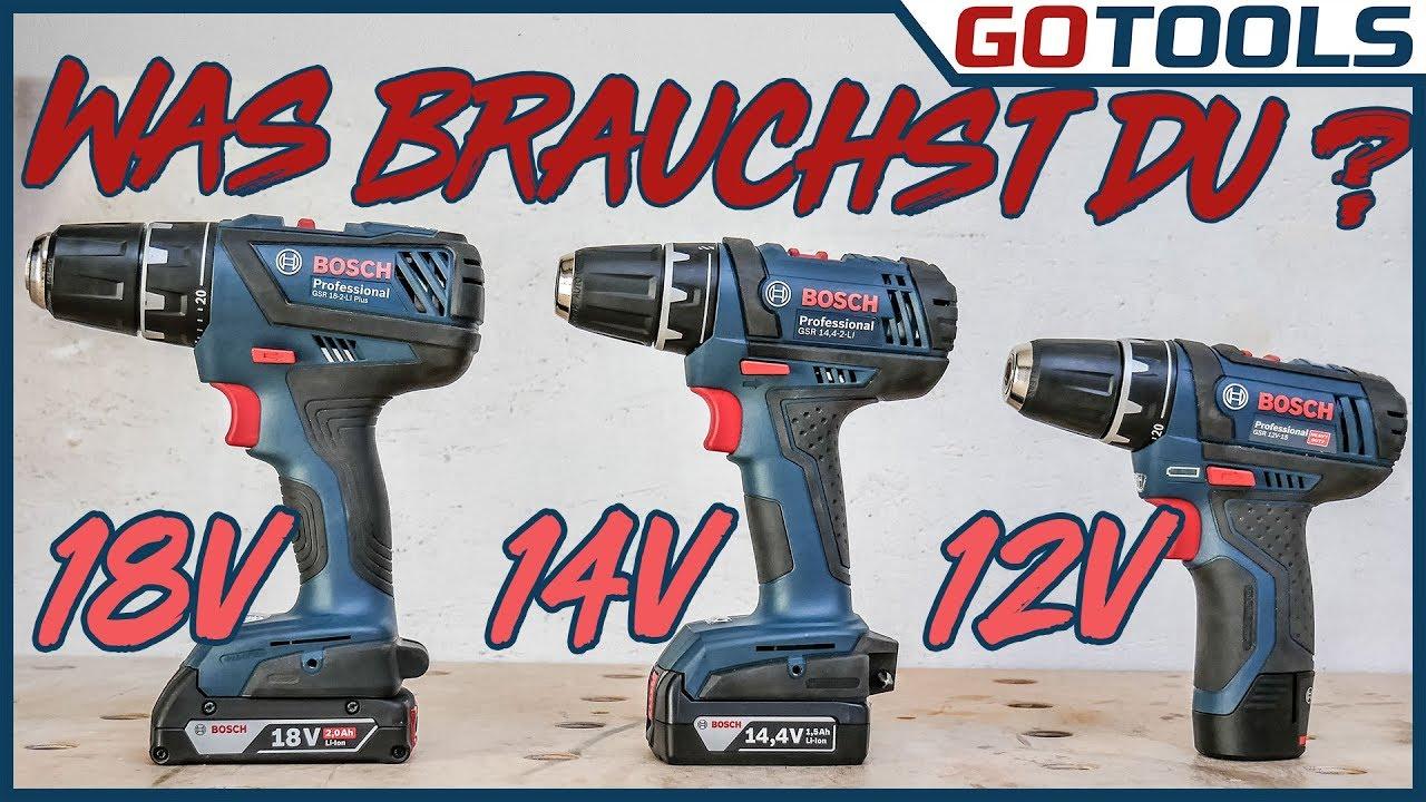Brauchst Du 12v 14v Oder 18v Im Test Bosch Akkuschrauber Gsr18 2