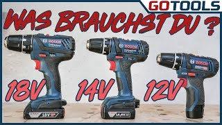 Brauchst Du 12V, 14V oder 18V? Im Test: Bosch Akkuschrauber GSR18-2-LIPlus, GSR12V-15, GSR14,4-2-LI