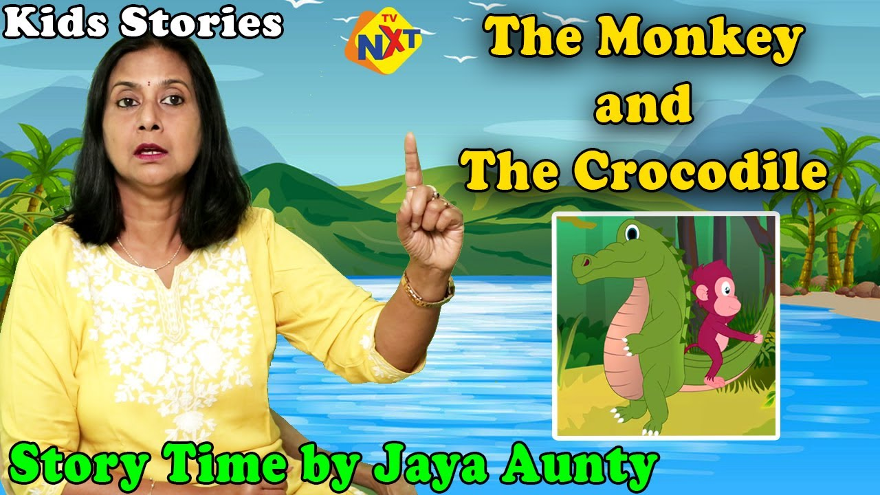 The Monkey And The Crocodile Storytime By Jaya Aunty   Bedtime Story    Moral Stories    TVNXT Kidz