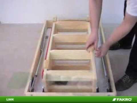 Fakro scale per la soffitta scala sezionale in legno lwk for Scale per librerie in legno