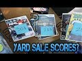 YARD SALE SCORES AND A BIRTHDAY (Video games and toys)