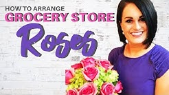 How To Arrange Grocery Store Roses With No Greenery