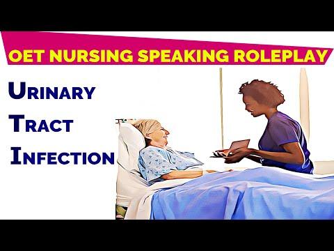OET SPEAKING ROLEPLAY SAMPLE NURSING  URINARY TRACT INFECTION (UTI) | MIHIRAA