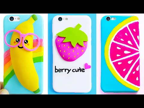 DIY PHONE CASES (Fruits-inspired) | Easy & Cute Phone Projects & iPhone Hacks