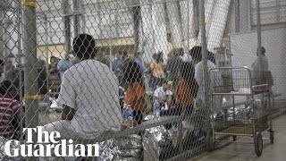 Children separated from parents cry at US detention centre – audio