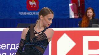 Майя Хромых Короткая программа Женщины Чемпионат России по фигурному катанию 2021