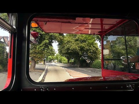 Routemaster Bus Front Seat Ride - AEC Engine
