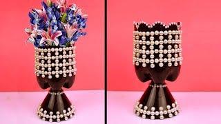 Easy Ideas How to Make Plastic Bottle Flower Vase // Best Out Of Waste Plastic Bottle Flower Vase