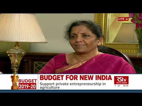 Finance Minister Nirmala Sitharaman's interview post Union Budget 2019-20