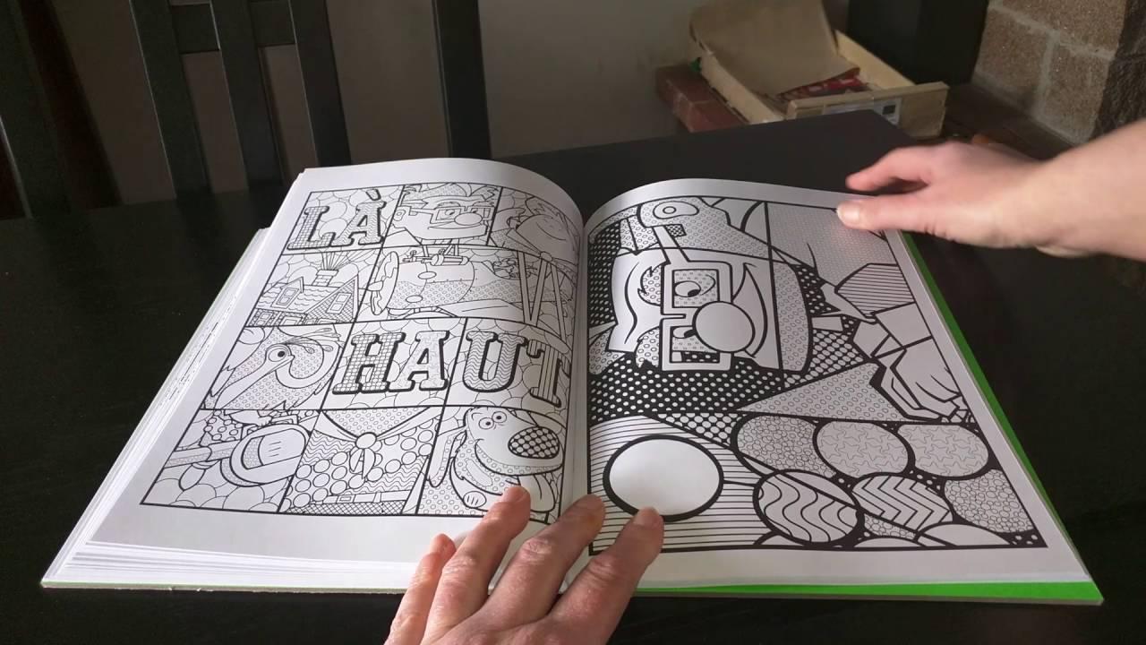 Livre de Coloriage anti stress adulte pixar