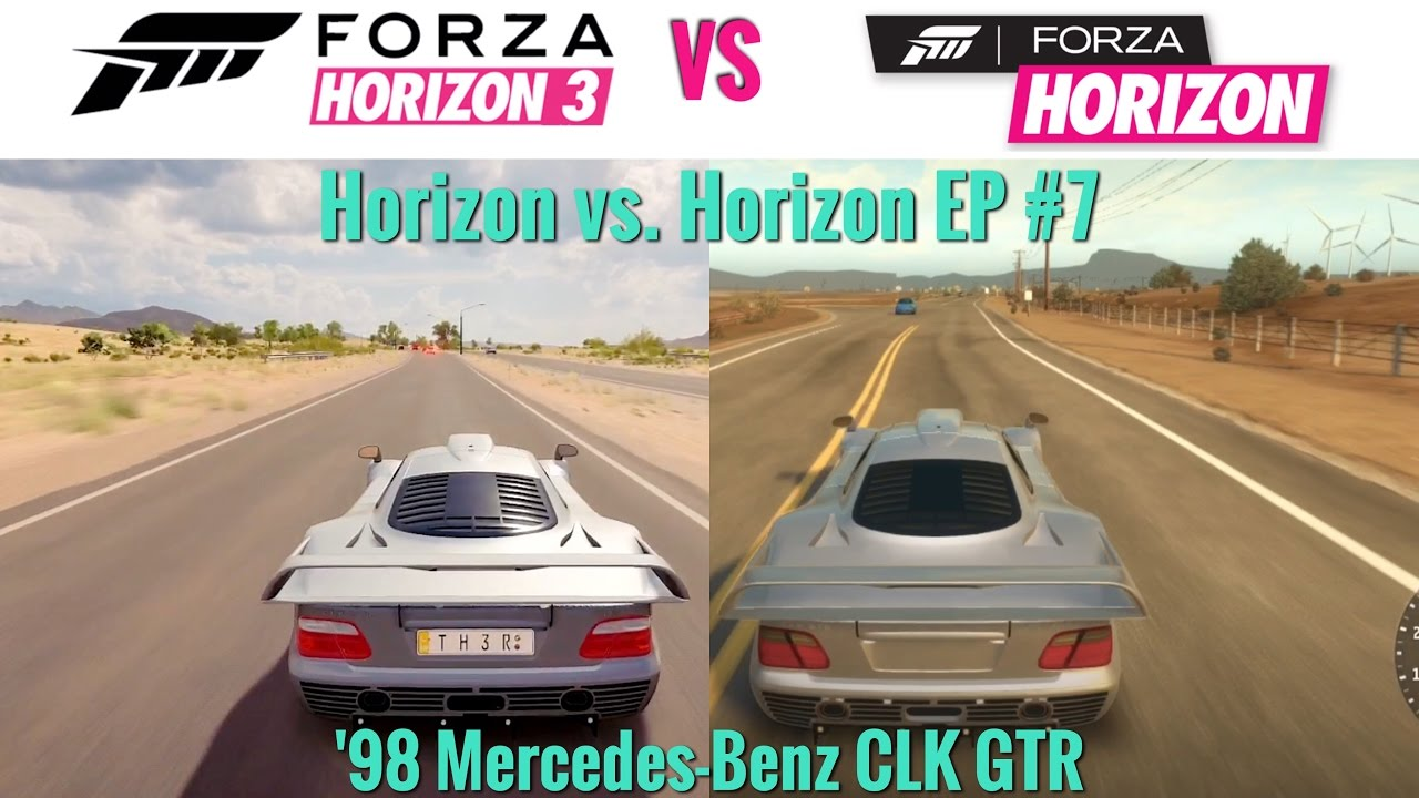 forza horizon 3 vs forza horizon 1998 mercedes clk gtr. Black Bedroom Furniture Sets. Home Design Ideas