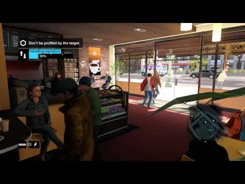 Watch Dogs Online Hacking - target misses hacker right in front of him!!!