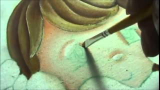 Como pintar o rostinho da boneca cup cake