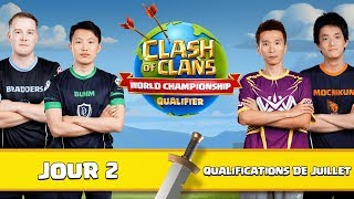 🔴Clash of clans | World Championship | ESL Qualifications Juillet Jour 2