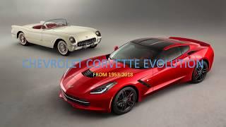 Chevrolet corvette evolution (from 1953-2018)