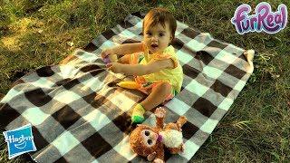 Hasbro | Интерактивная игрушка | Обезьянка Fur Real Friends Baby Cuddles My Giggly Monkey Pet Plush