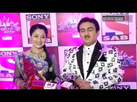 Dilip Joshi and Disha Wakani at Red Carpet Sab Ke Anokhe Award