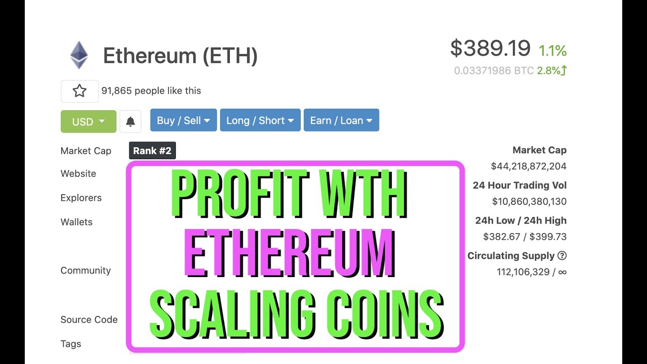 How I Intend To Profit With Ethereum Scaling Solutions + New Coin