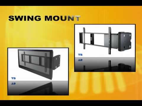 Motorized pull out rotate tv wall mount bracket mart for Motorized swing arm tv mount