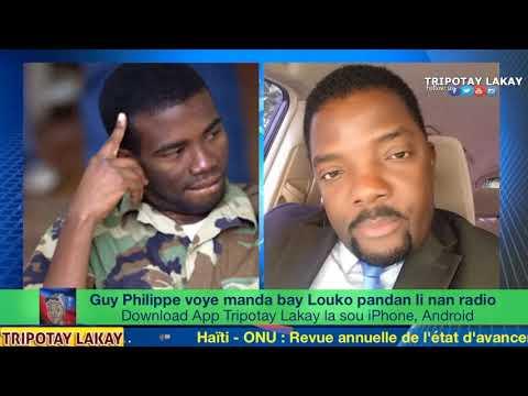 Guy Philippe voye manda bay Louko Desir pandan li chita nan Radio a