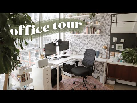 My NEW Office Tour! *desk + stationery organization*