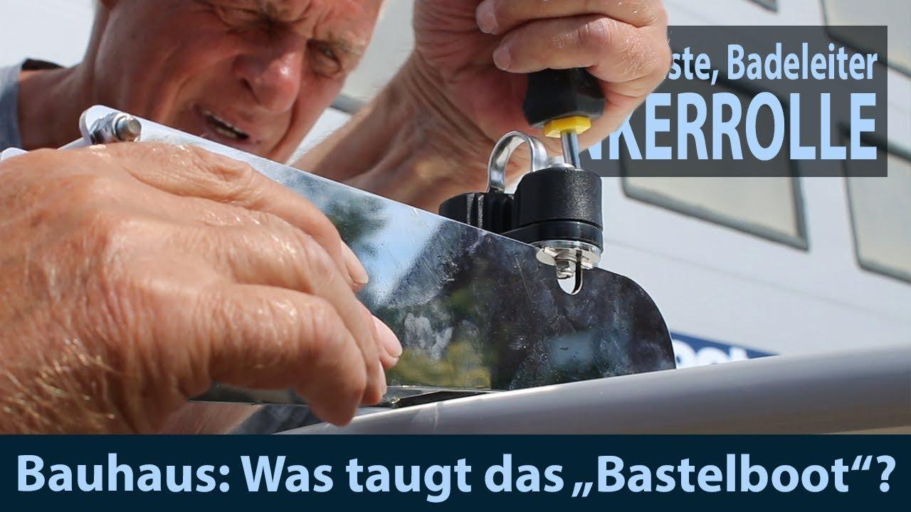 Badeleiter mit Teak Stufen klappbar Heckmontage Edelstahl Bootsleiter Boot Yacht