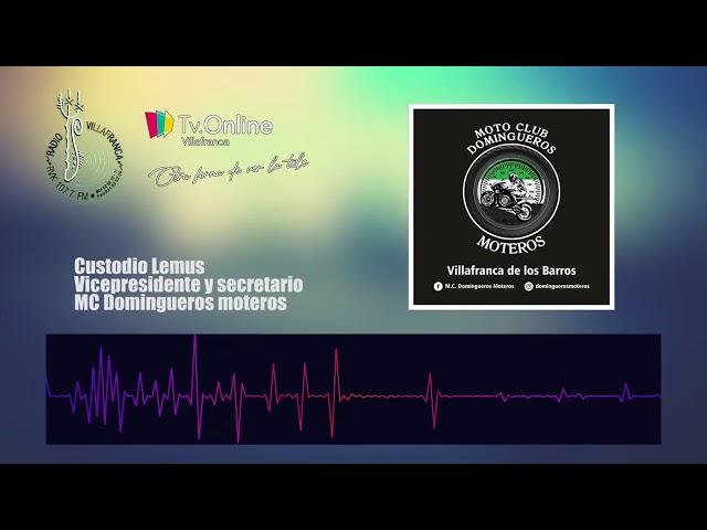 Entrevista a Custodio Lemus vicepresidente de M.C. Domingueros Moteros