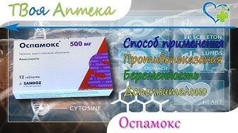 Оспамокс таблетки - показания (видео инструкция) описание, отзывы - Амоксициллин