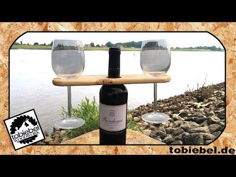 Berühmt DIY Weinglashalter aus Holz selber machen⎮Geschenkideen für ZA13